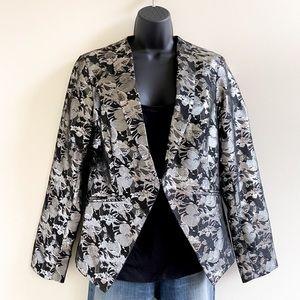 Gibson metallic silver & black blazer jacket Large